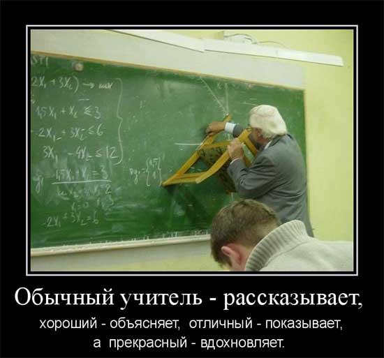 Демотиваторы про учителей