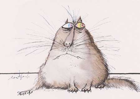 Смешные нарисованные картинки котов