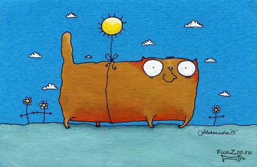 Картинки котов смешные нарисованные