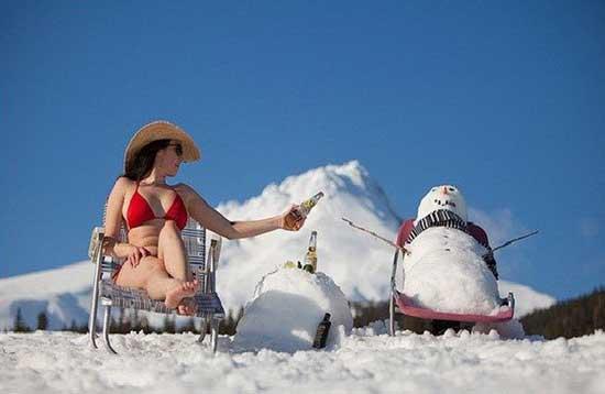 Прикольные фото зимой