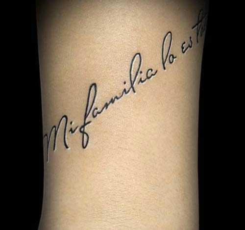 Татуировки надписи на запястье