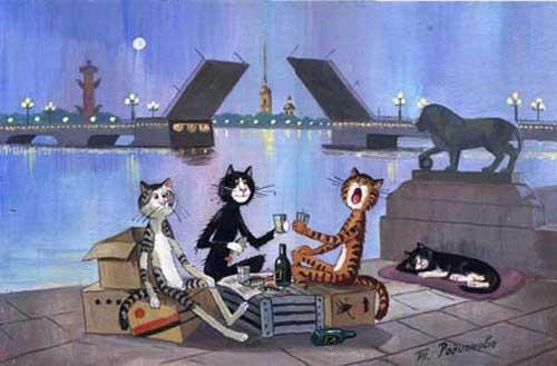 Смешные рисунки котов