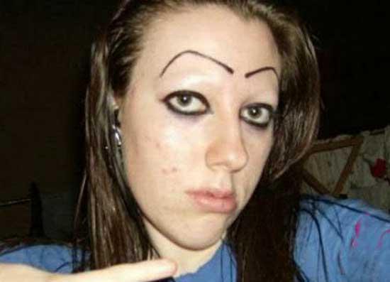 Смешной макияж - фото
