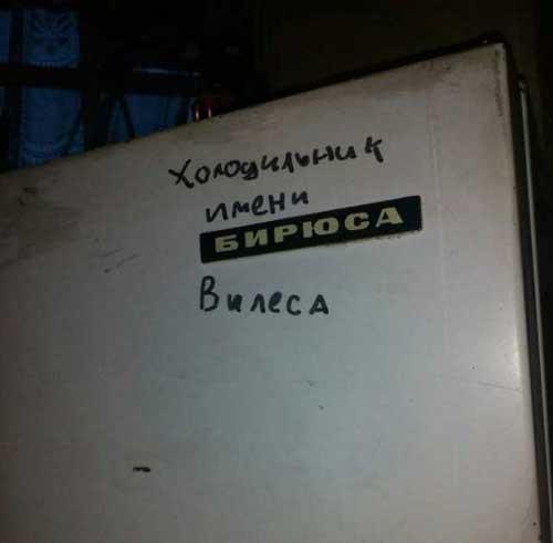 Прикольные фразы на холодильник